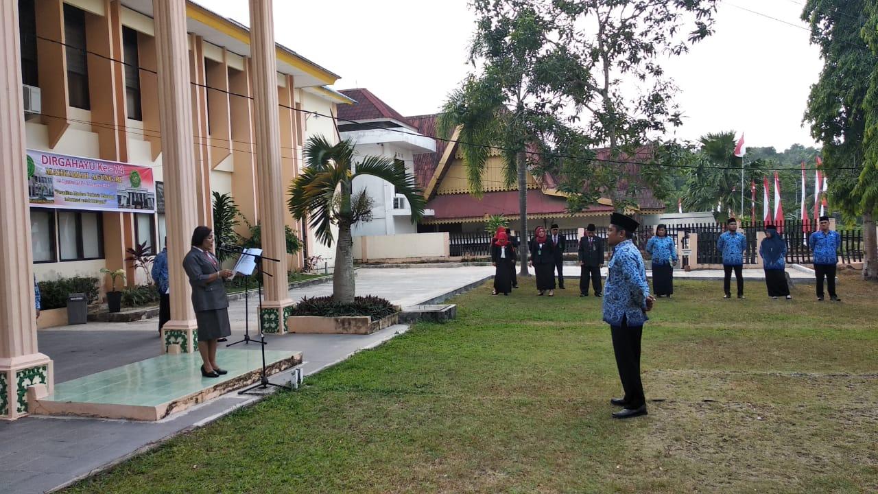 UPACARA MEMPERINGATI HARI KEMERDEKAAN REPUBLIK INDONESIA KE 74
