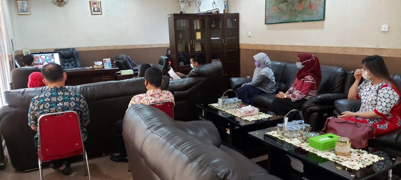 TELECONFRENCE  MA-RI DENGAN KETUA SATKER PERADILAN SE-INDONESIA